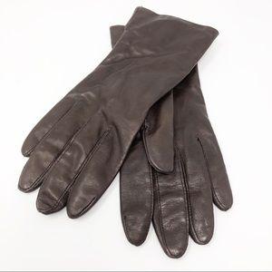 Vintage Brown Leather Gloves Fownes Ladies Size 8